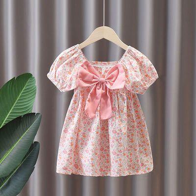 女童碎花连衣裙夏季泡泡袖2021新款夏装公主裙小清新可爱裙子宝宝