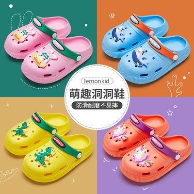 新款儿童夏季卡通动物萌趣洞洞鞋居家出行凉爽拖鞋中小童幼儿凉鞋