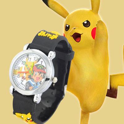 34640/皮卡丘电子手表儿童玩具表学生防水手表卡通动漫男孩女孩彩色手表