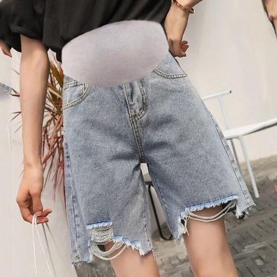 34820/孕妇短裤女夏外穿时尚潮妈宽松大码牛仔短裤五分中裤夏季薄款裤子