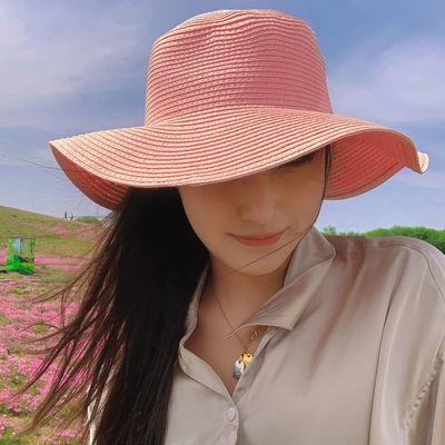 顶尚伊汇波浪边大檐小檐女士草帽防晒遮阳夏季出游旅行时尚帽子