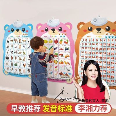 37621/有声拼音挂图早教发声识字字母表宝宝启蒙儿童点读墙贴玩具全套
