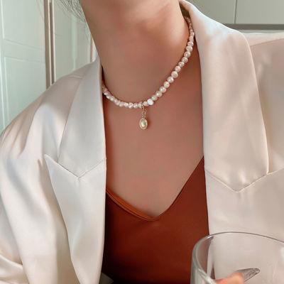 76270/气质珍珠项链复古颈链2021年新款女潮夏季轻奢锁骨链气质百搭饰品