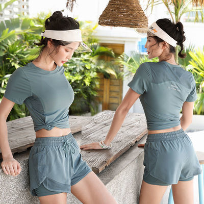 夏季专业瑜伽服显瘦弹力健身跑步高端时尚速干训练户外运动套装女