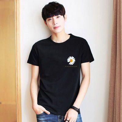 2020夏季新款大码印花宽松休闲透气男短袖韩版潮流卡通学生男T恤