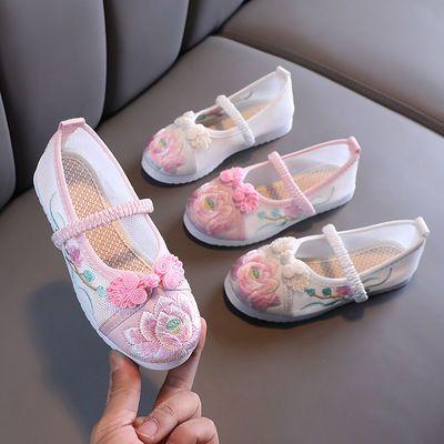 33033/女童绣花鞋网鞋中国风舞蹈鞋儿童汉服鞋民族风古风古装鞋手工布鞋