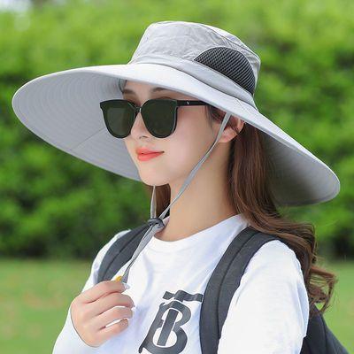 78465/帽子男钓鱼帽男女同款遮阳帽遮脸透气太阳帽防水防嗮户外帽可折叠