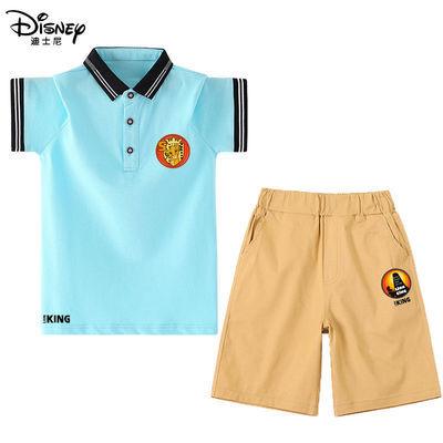 39009/迪士尼男童短袖T恤套装中大童夏季2021新款宝宝两件套宽松运动裤