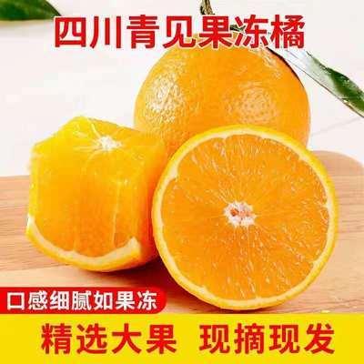 正宗四川眉山青见果冻橙柑橘新鲜橘子当季水果现摘橙子10斤整箱装