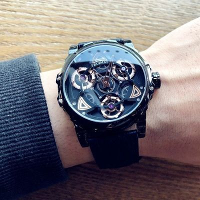 34074/十大潮牌男士手表个性时尚黑科技炫酷非机械时来运转学生防水腕表