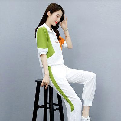 休闲运动套装2021年新款女夏季女装时尚两件套洋气小个子职业套装