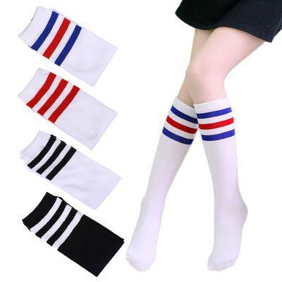 33992/长筒袜儿童幼儿六一节日春夏季棉袜男女孩条纹袜高筒袜学生运动袜
