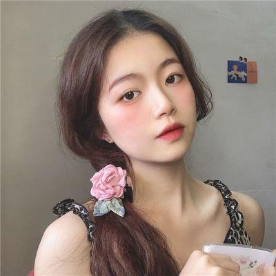 28242/原创甜酷昭和复古立体玫瑰花后脑勺抓夹发夹仙女温柔甜美发饰头花