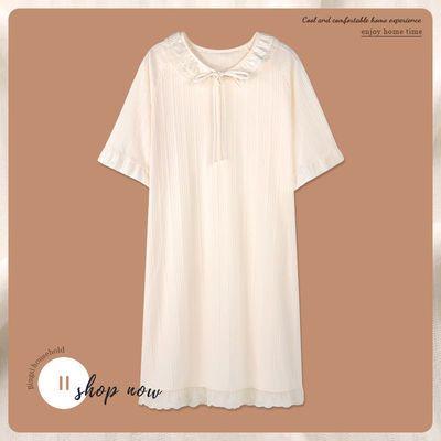 68121/睡裙女夏季棉质薄款短袖2021年新款睡衣裙子夏天甜美公主风可外穿