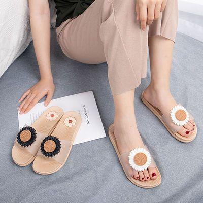 【防滑 防臭】 凉拖鞋女新款百搭外穿女凉拖学生韩版室内外菊花鞋