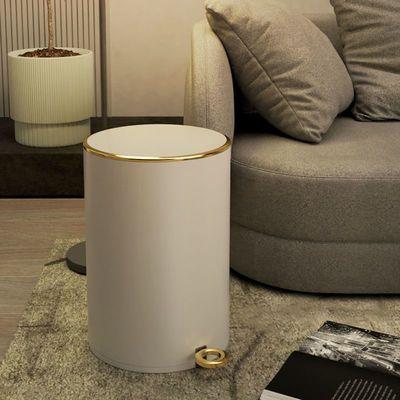 37633/不锈钢垃圾桶脚踏式带盖家用欧式高档客厅厨房卧室网红卫生间创意