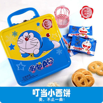 哆啦A梦经典礼盒装黄油奶香曲奇大脸猫叮当网红办公室零食送礼CM