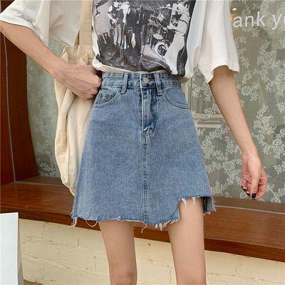 26218/小个子牛仔半裙2021年新款高腰a字半身裙显瘦短裙夏季女包臀裙子