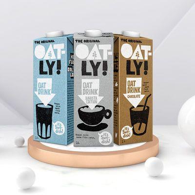 OATLY噢麦力咖啡大师原味燕麦奶无添加蔗糖植物蛋白饮1L线下同款