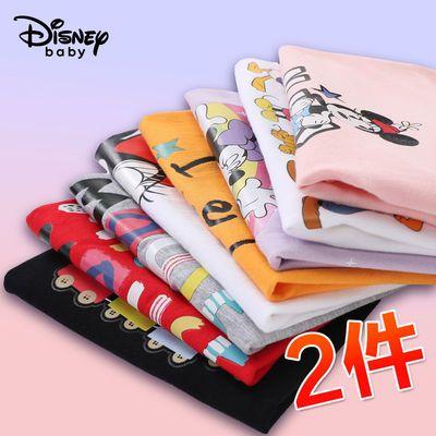 39966/迪士尼儿童短袖T恤2021夏季新款男童短袖女童打底衫纯棉两件套潮