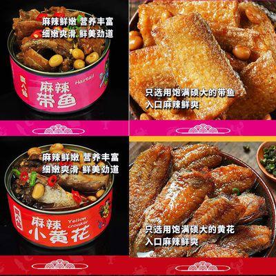【超值组合】麻辣小海鲜捞汁罐头即食带鱼黄花鱼扇贝蛤蜊无边角料