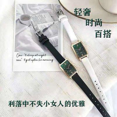 26043/时尚轻奢手表女学生韩版简约小绿表学生党手表女气质镶钻手镯手表