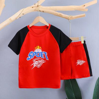 37739/男女童速干衣运动套装2021夏季新款帅气篮球服男孩女孩中大童球衣