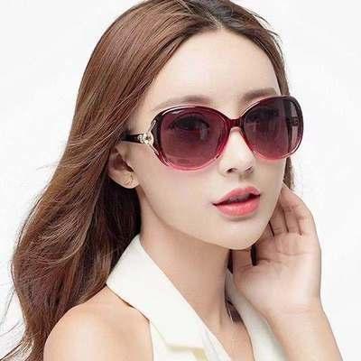 网红太阳镜新款狐狸头墨镜时尚女款大框防紫外线女士开车偏光眼镜