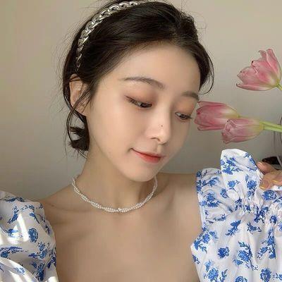 37263/2021年新款珍珠锁骨链女小众设计感个性时尚气质甜美风项链配配饰