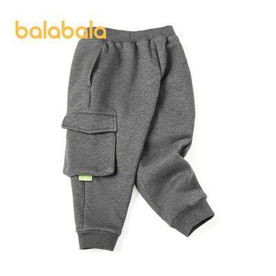 巴拉巴拉长裤2020年冬季男幼童立体风琴袋工装长裤21084201103