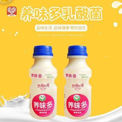 新货养味多乳酸菌饮品340ml早餐酸奶牛奶原味草莓味特价批发