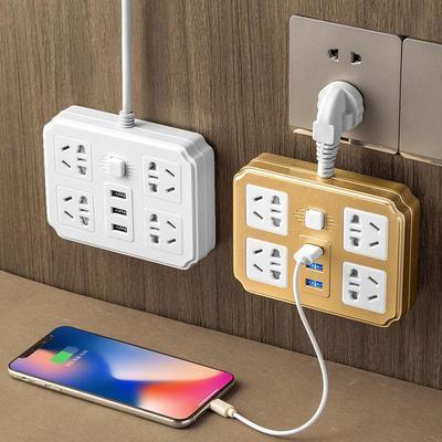 家用多功能USB插座板带线插头转换器无线插排接线板【5月21日发完】