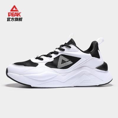 37115/匹克男鞋休闲鞋男2021夏季新款防滑透气跑步鞋男运动鞋男DE130311