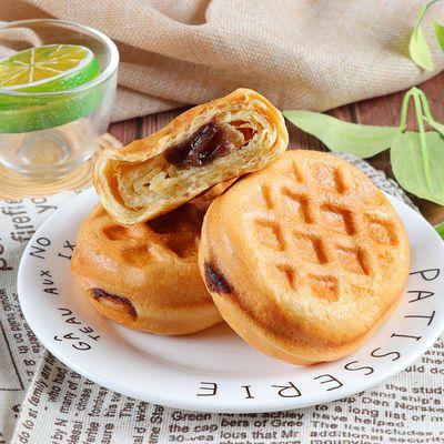 倍之味华夫面包水红豆风味蛋糕卷夹心软面包营养早餐网红下午代餐