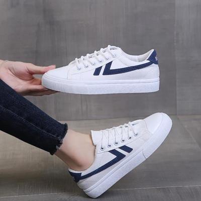 63359/港风复古情侣小白鞋女2021新款韩版ins潮学生百搭低帮平底帆布鞋