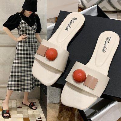 26228/【热销款】凉拖鞋女2021新款夏季仙女风女平底网红个性一字拖鞋