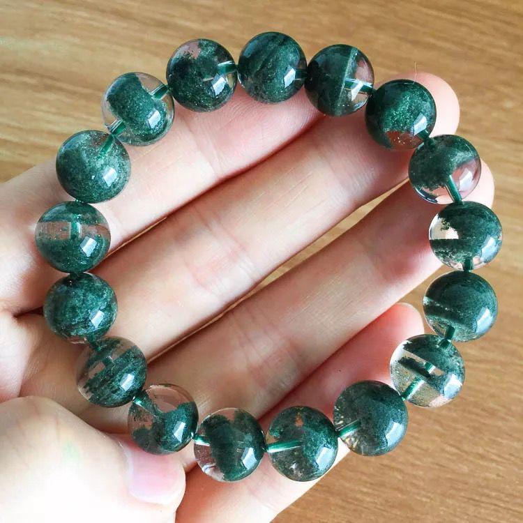 天然绿幽灵聚宝盆手链