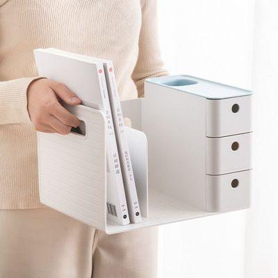 73298/桌面置物架书架公司办公文件夹整理收纳架简易学生桌面文具置物架