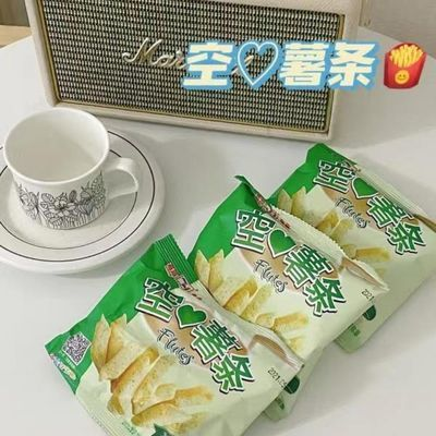 嘉海食品脆香五香烧烤味空心薯条吃网红零食薯片20小包