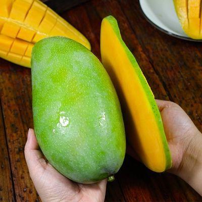 【催熟后食用】新鲜越南大青玉芒果当季热带水果整箱批发水仙芒