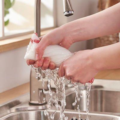 洗碗布加厚加大吸水不易掉毛厨房抹布纯棉擦机布全棉刷碗布
