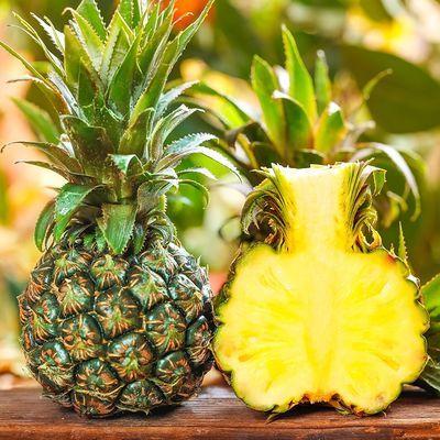 【爆甜菠萝】云南香水菠萝10斤新鲜当季热带水果绿皮净重整箱发货