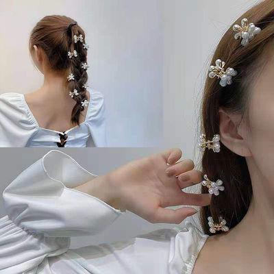 31553/珍珠花瓣网红发夹发卡女韩网红抓夹可爱少女小夹子后脑勺头饰刘海