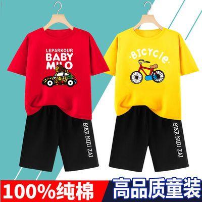 纯棉【T恤+短裤】套装儿童夏装短袖男童中大童半袖裤子宝宝两件套
