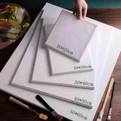37090/油画框画材练习亚麻纯棉画布油画布框实木画框批发定制各种尺寸