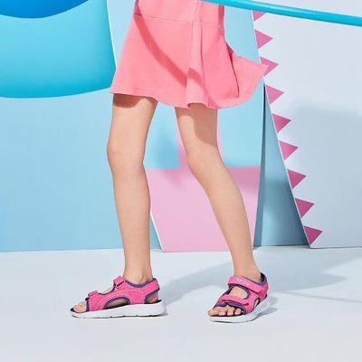 72619/Skechers斯凯奇女童鞋新款大童魔术贴凉鞋 女童沙滩鞋 86933L