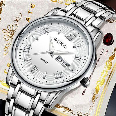 32623/正品瑞士全自动机芯中年男士手表双日历防水功能腕表圆型夜光表女