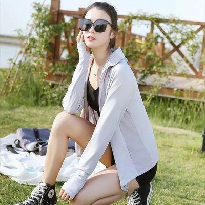 55524/夏季冰丝防晒衣防紫外线皮肤衣透气连帽沙滩服防晒外套防晒衣爆款