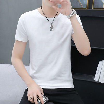 100纯棉短袖t恤男士衣服夏季男装2021新款情侣装韩版白色上衣体恤