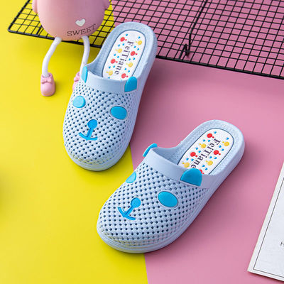 儿童卡通洞洞拖鞋男女童休闲流行鞋透气耐磨柔软幼儿园拖鞋夏季